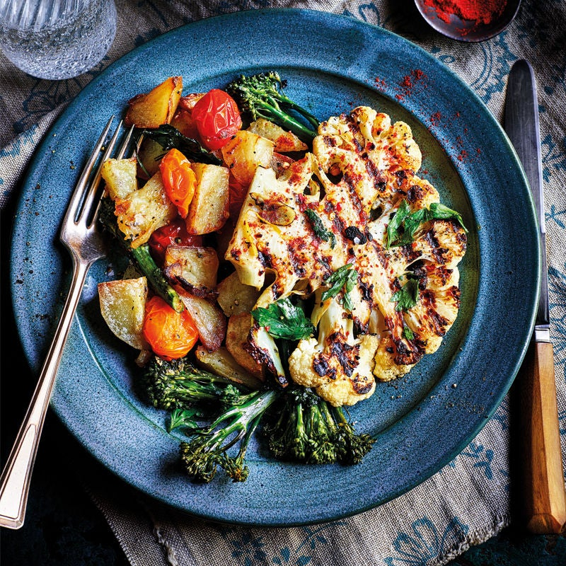 Photo of Garlic cauliflower steaks with roast veg by WW