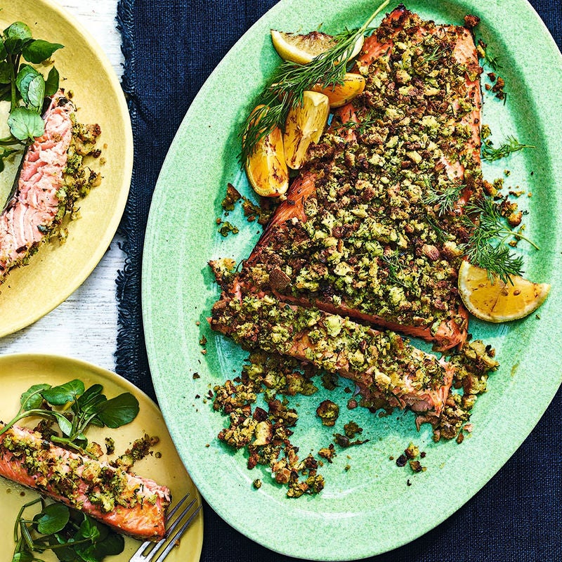 Photo of Herb-crusted side of salmon by WW