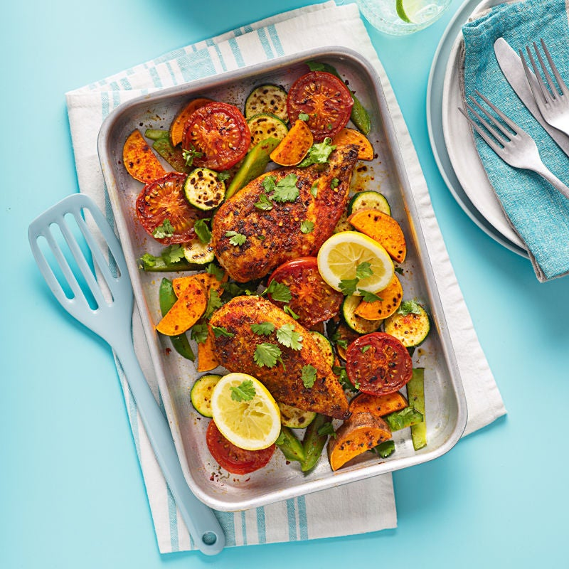 Photo of Cajun-spiced chicken traybake by WW