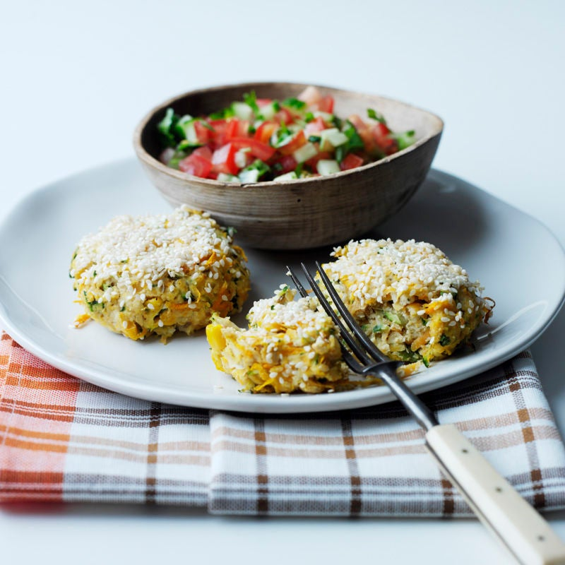Photo of Chickpea patties with coriander tomato salsa by WW