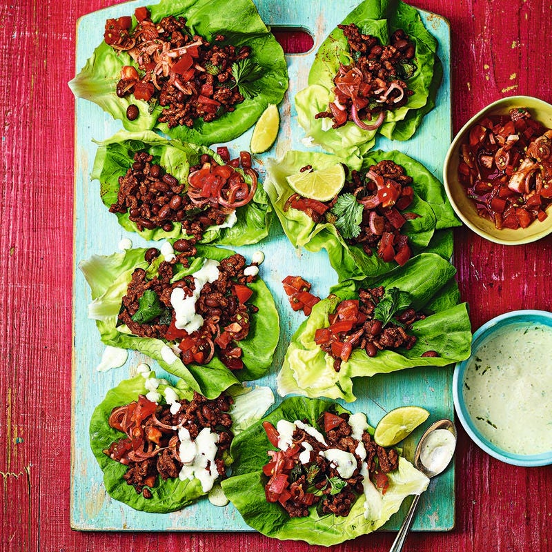 Photo of Lettuce cup beef tacos with jalapeño sauce by WW