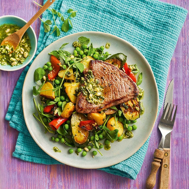 Photo of Beef escalopes with pesto veg salad by WW