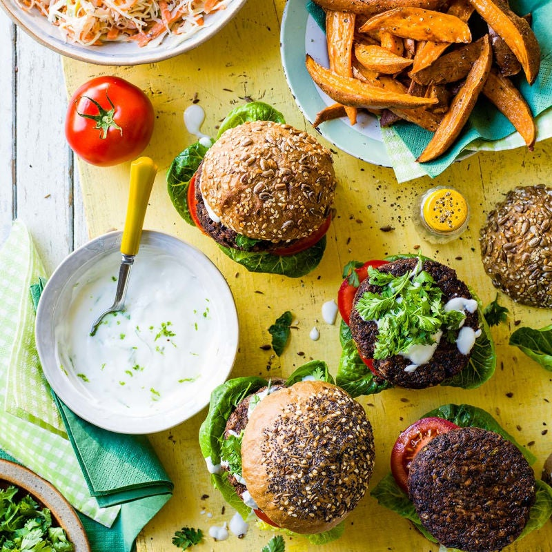 Photo of Spicy black bean burgers by WW