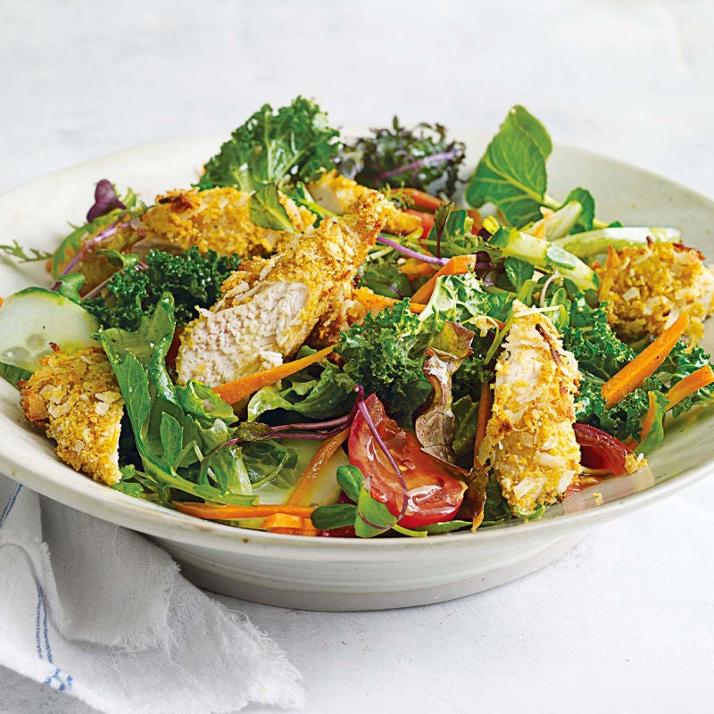 Photo of Coconut chicken salad with warm honey-mustard vinaigrette by WW