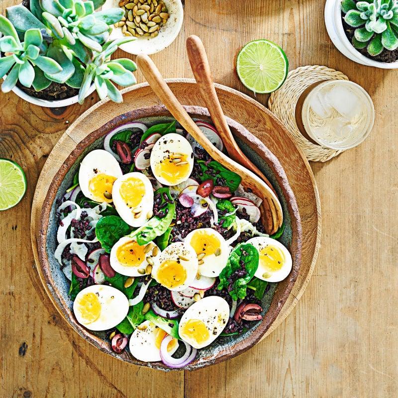 Photo of Egg & black rice salad by WW