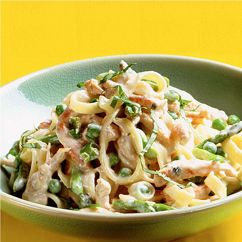 Photo of Turkey tagliatelle with asparagus and peas by WW
