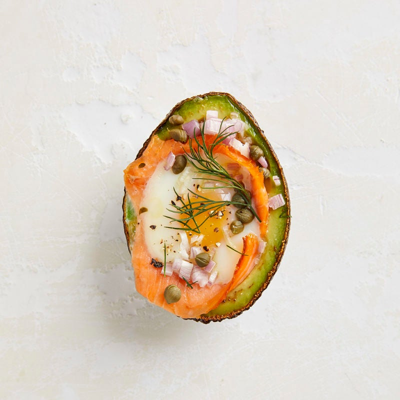Photo of Avocado baked eggs with smoked salmon by WW