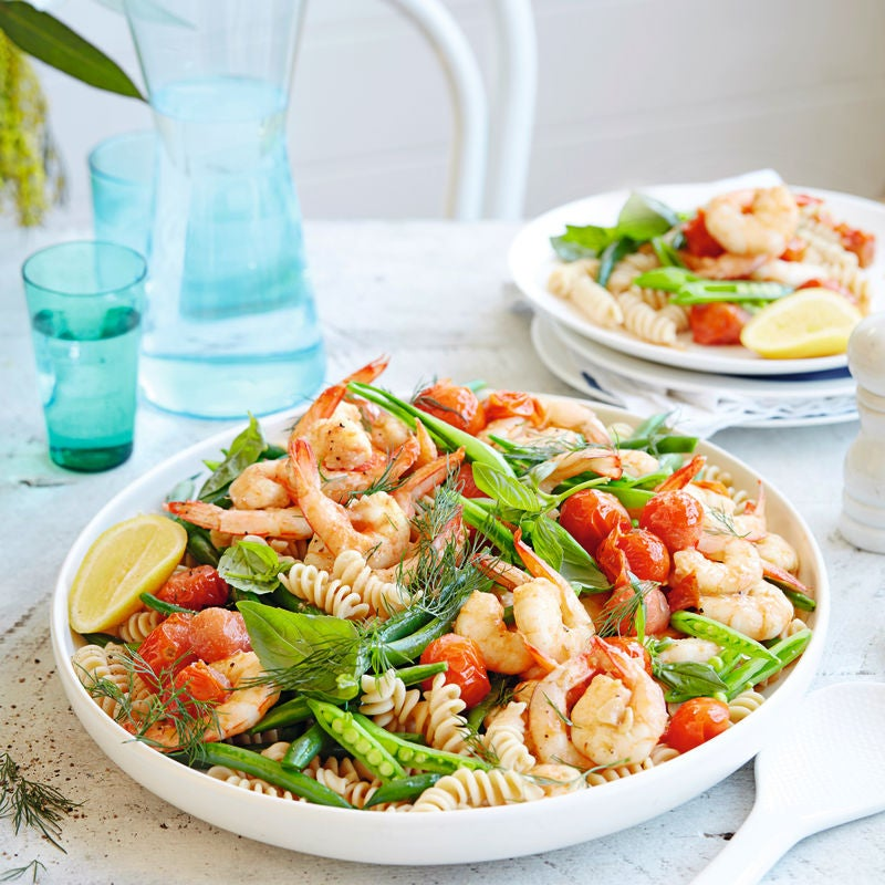 Photo of Garlic prawn pasta salad with tomatoes & herbs by WW