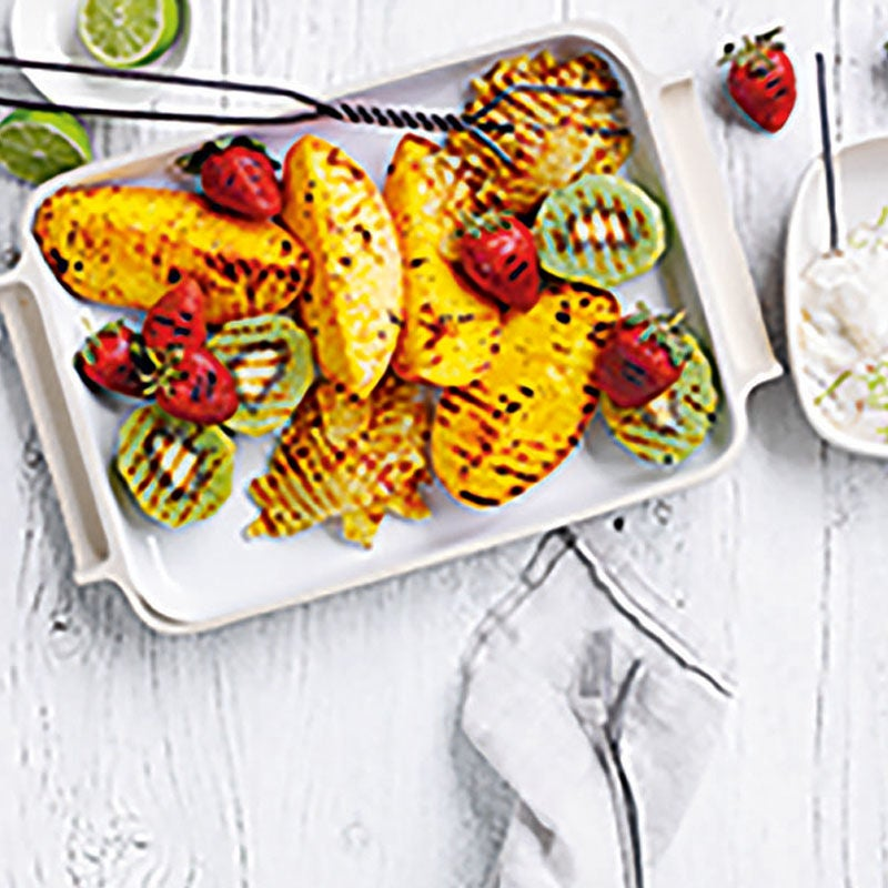 Photo of Grilled fruit salad with burnt sugar & lime yogurt by WW