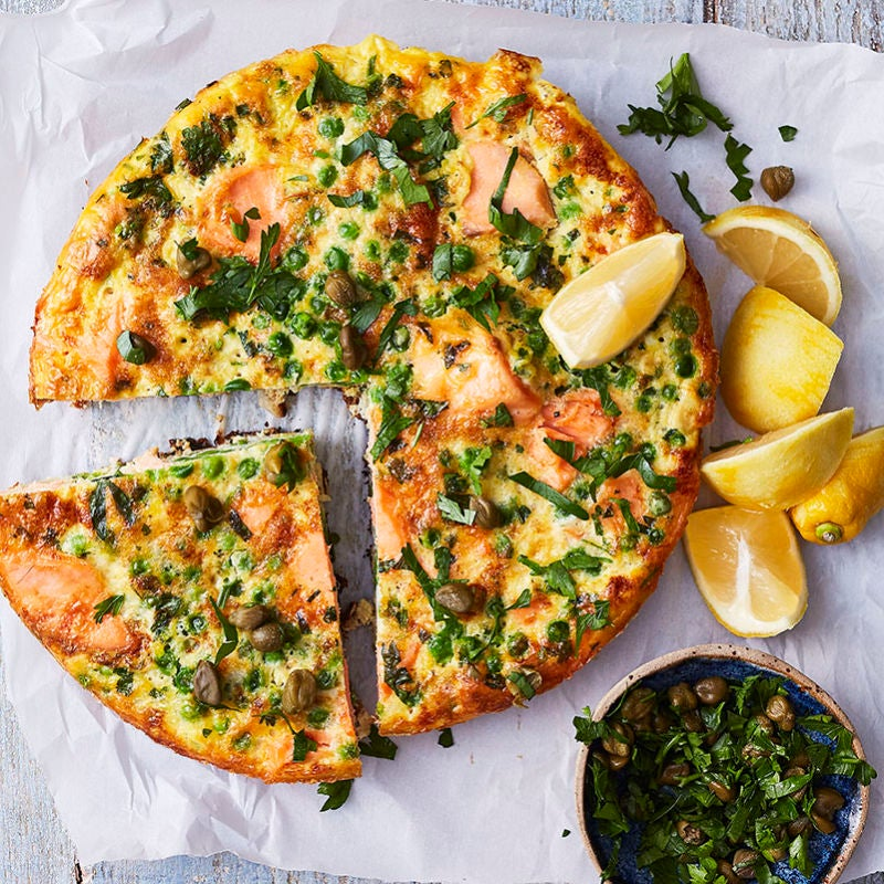 Photo of Salmon, pea & lemon frittata by WW