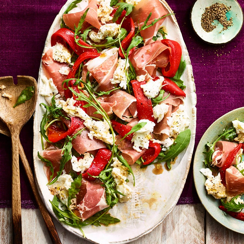 Photo of Red pepper, prosciutto & mozzarella salad by WW