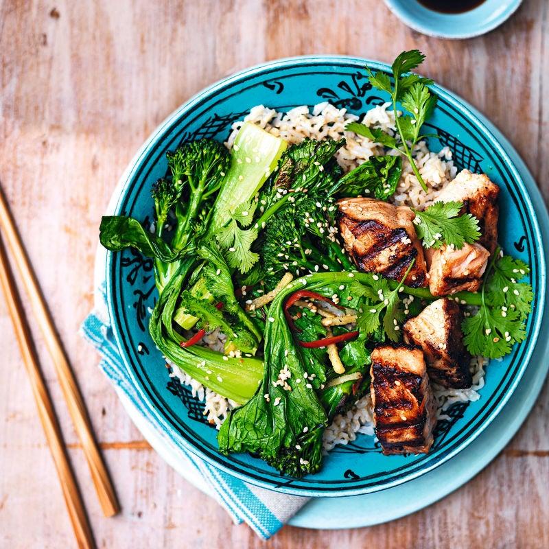 Photo of Salmon teriyaki rice bowl by WW
