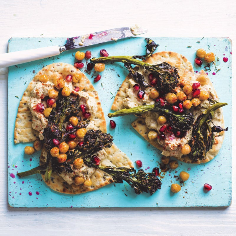 Photo of Roasted purple sprouting broccoli flatbreads by WW