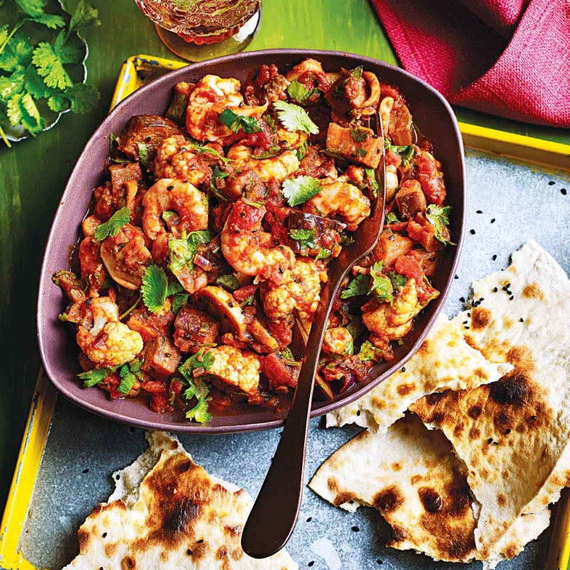 Photo of Quick prawn curry & 2-minute 'naan' by WW