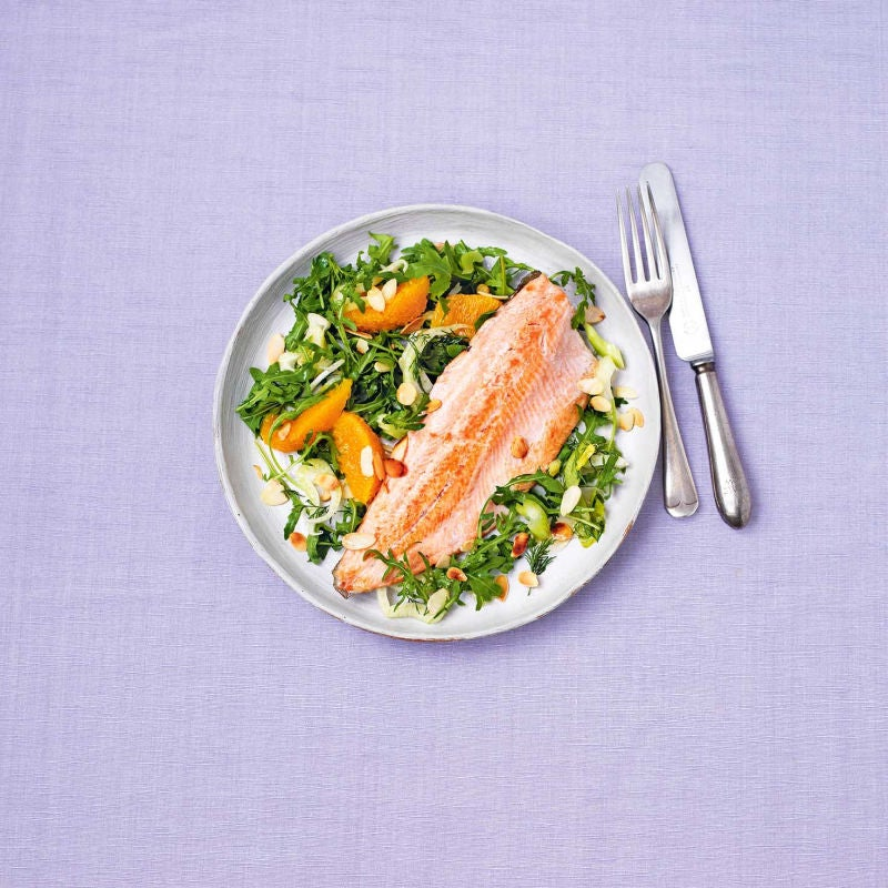 Photo of Pan fried trout with fennel, orange & almond salad by WW