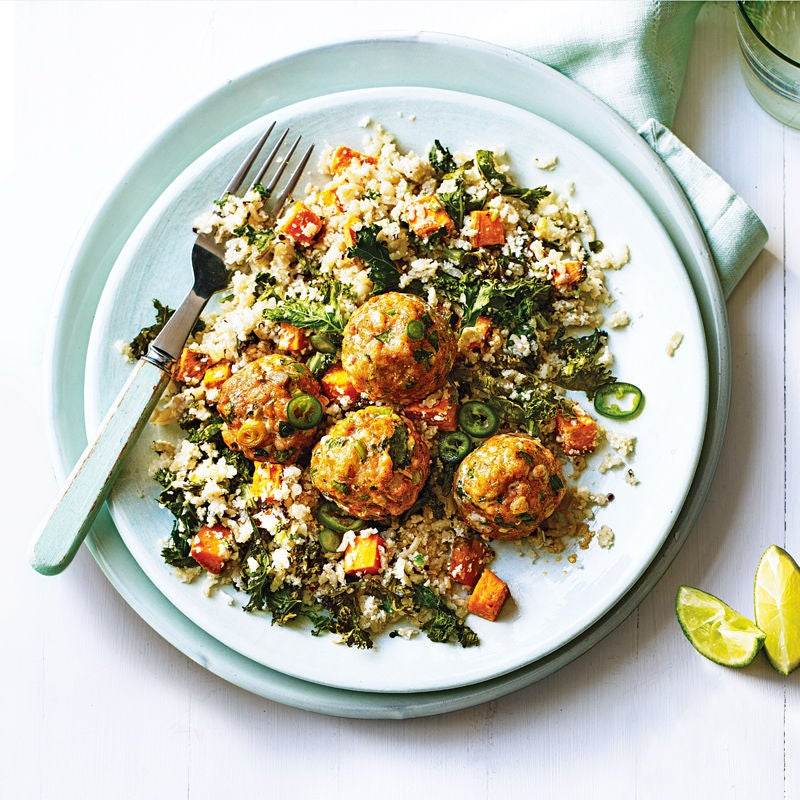 Photo of Spicy salmon balls with quinoa salad by WW