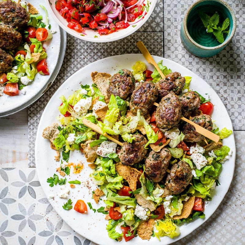 Photo of Lamb koftas with Turkish salad by WW