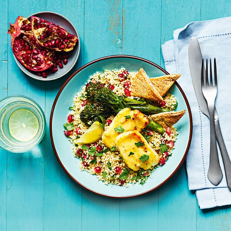 Photo of Halloumi-topped couscous salad by WW