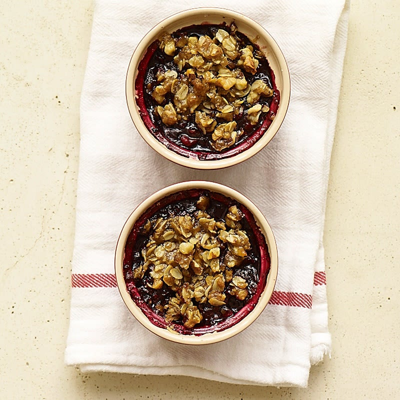 Photo of Individual mixed berry crumbles by WW