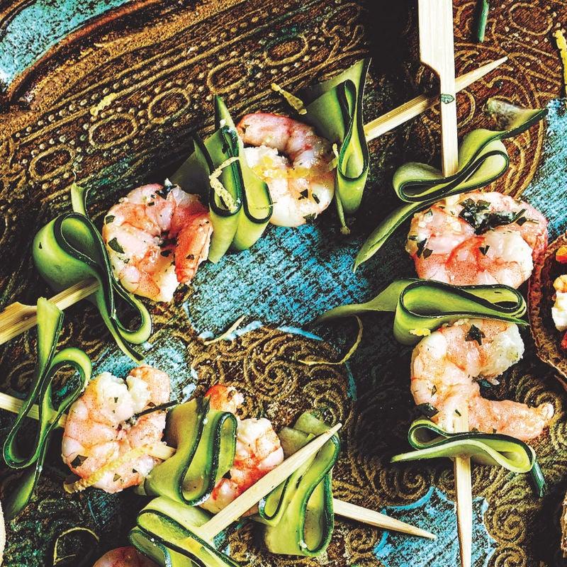 Photo of Cucumber & prawn skewers by WW