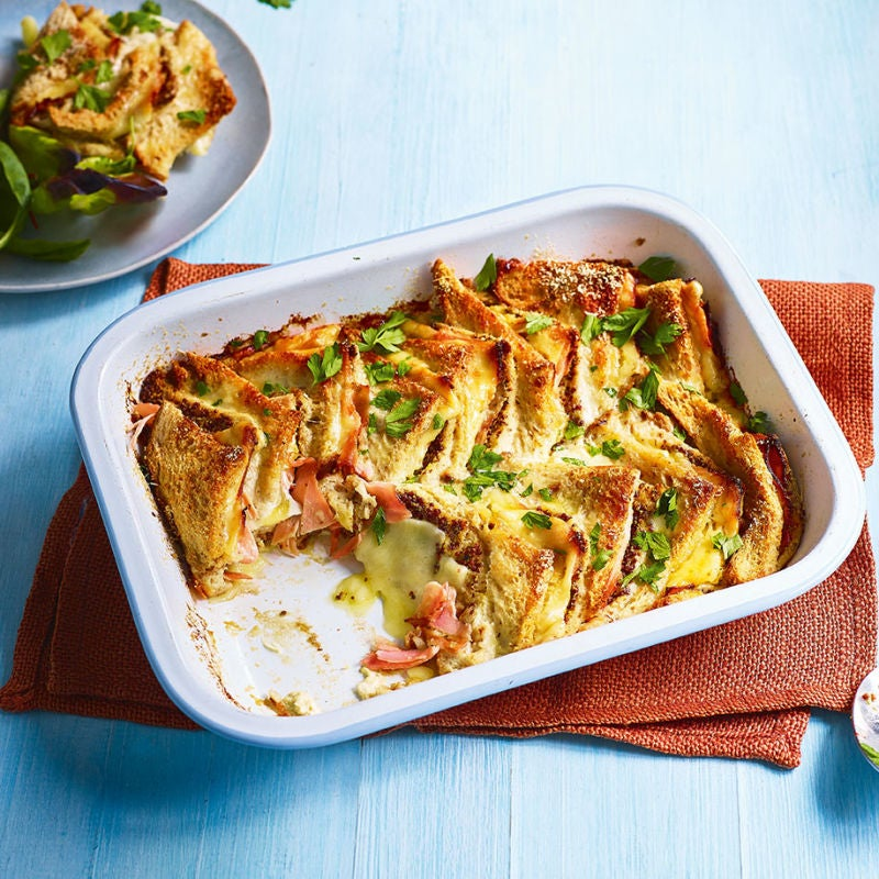 Photo of Croque Monsieur bread & butter pudding by WW
