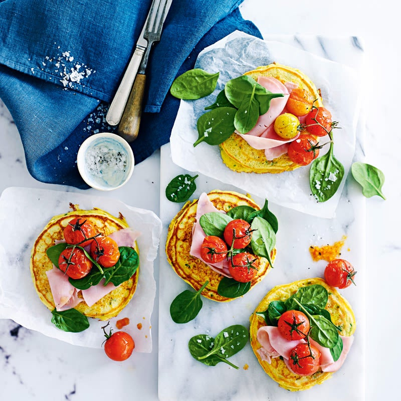 Photo of Chickpea pancakes with spinach & ham by WW