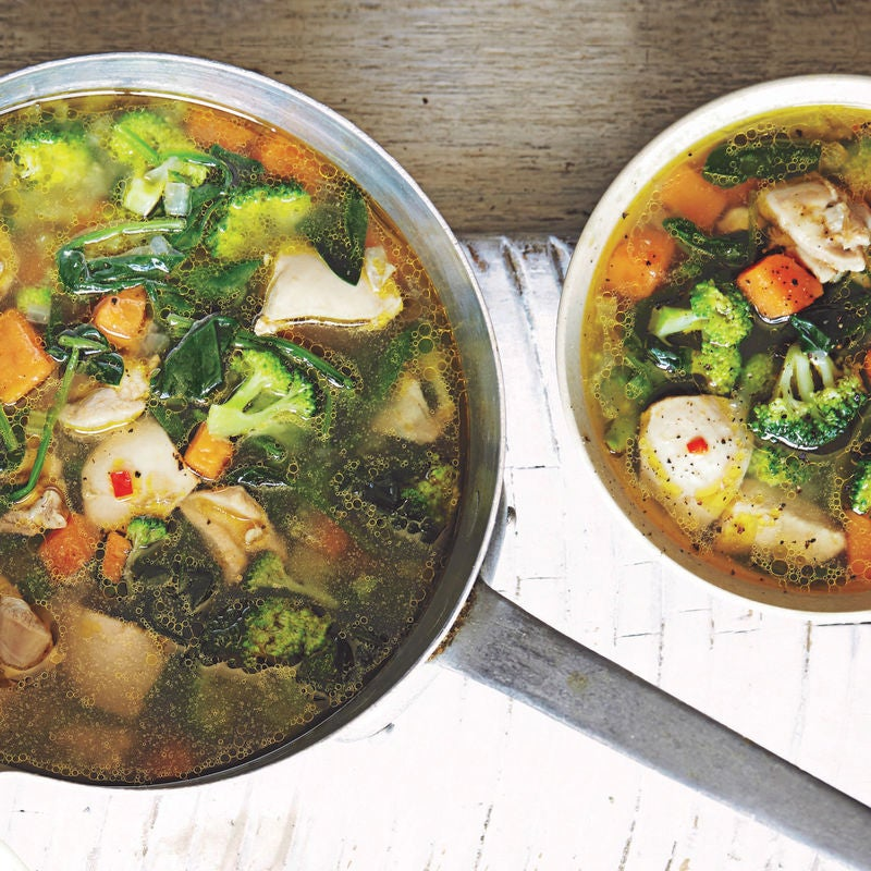 Photo of Spicy chicken, sweet potato & broccoli soup by WW