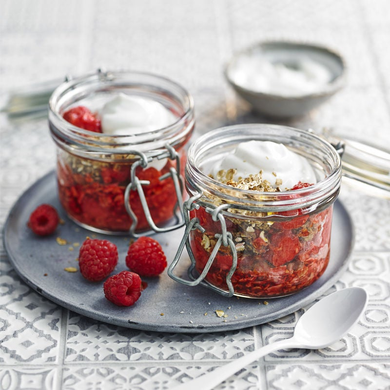 Photo of Granola & Greek yogurt pots with maple raspberries by WW