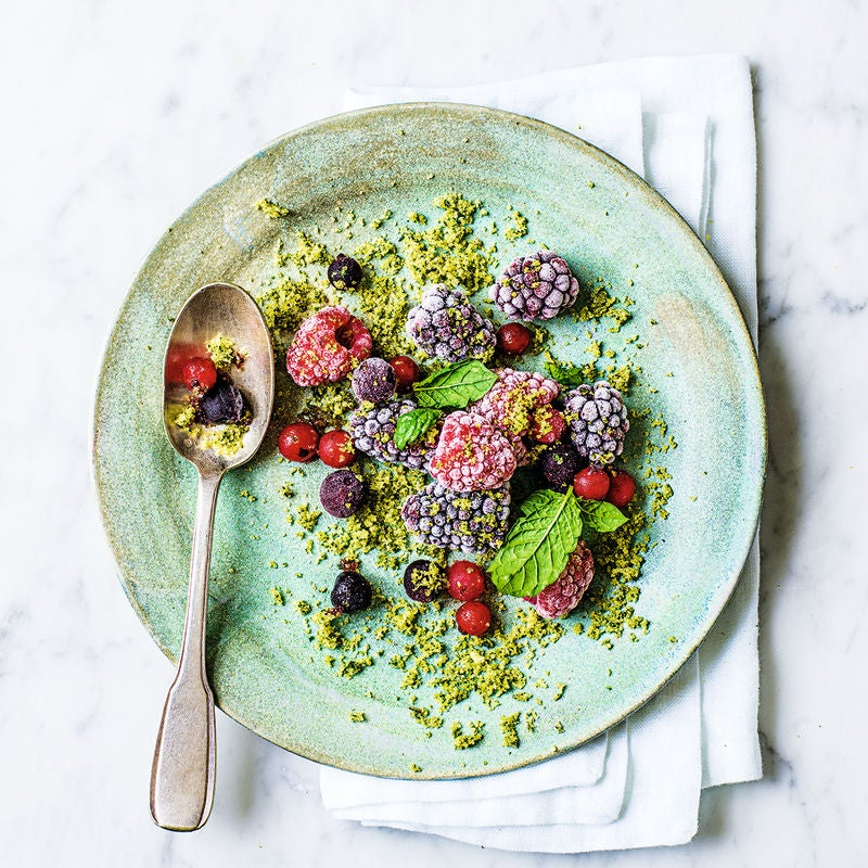 Photo of Frozen summer fruits with mint sugar by WW
