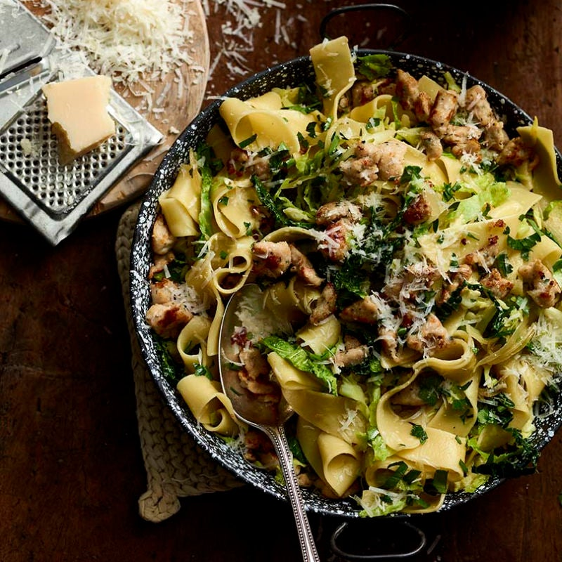 Photo of Chicken sausage & cabbage pappardelle by WW