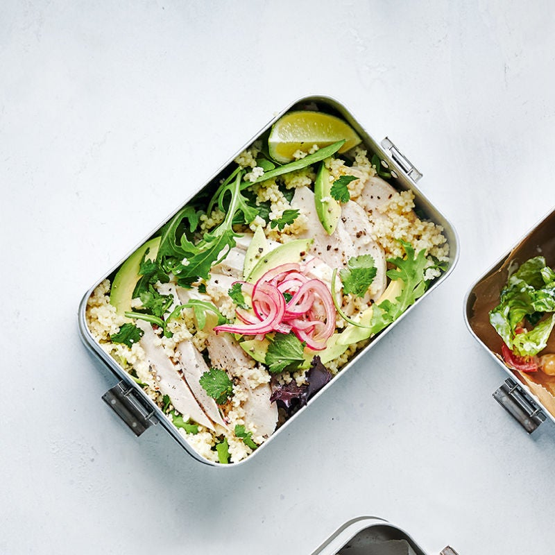 Photo of Chicken & avocado bowl with pickled red onions by WW
