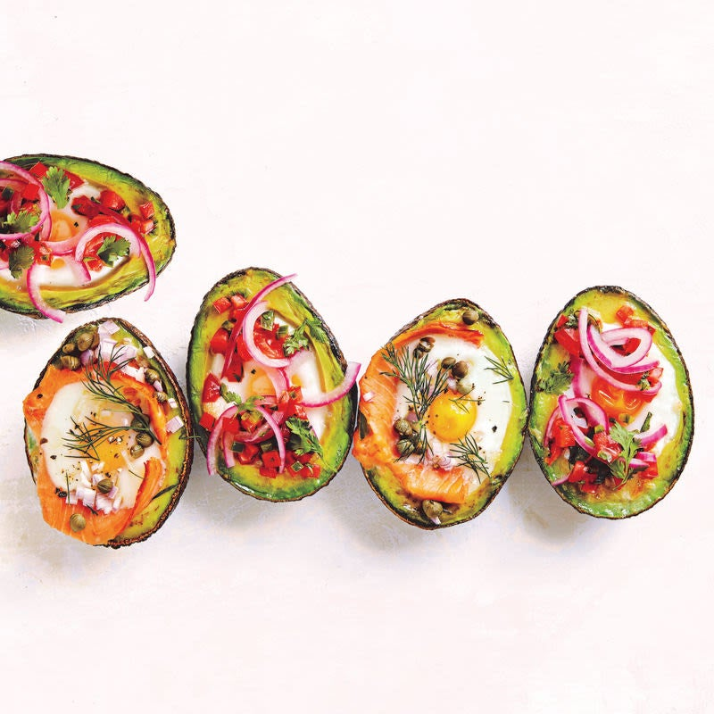 Photo of Avocado baked eggs with tomato salsa by WW