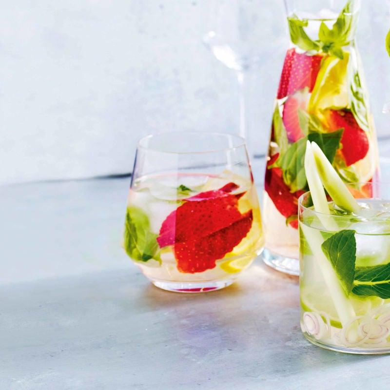 Photo of Strawberry, basil & lemon water by WW
