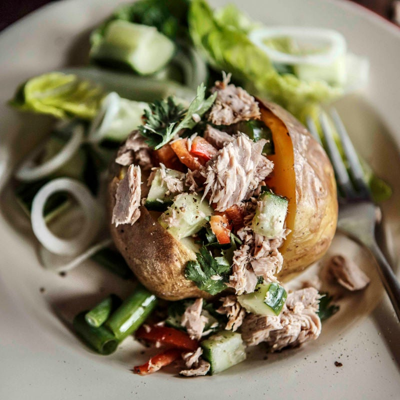 Photo of Baked potato with tuna, lime & coriander by WW