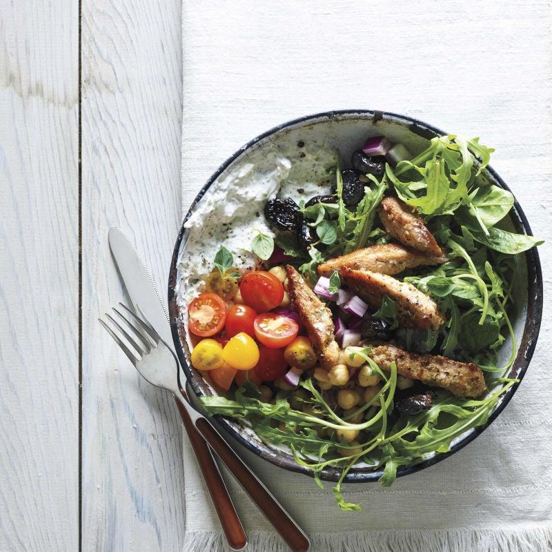 Photo of Greek souvlaki salad by WW