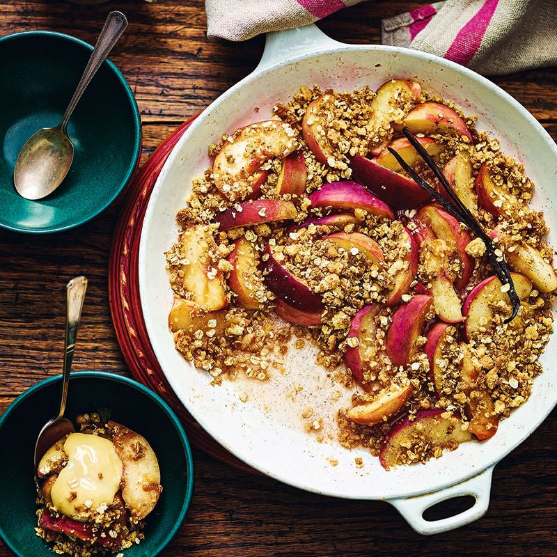 Photo of Frying pan peach crumble by WW