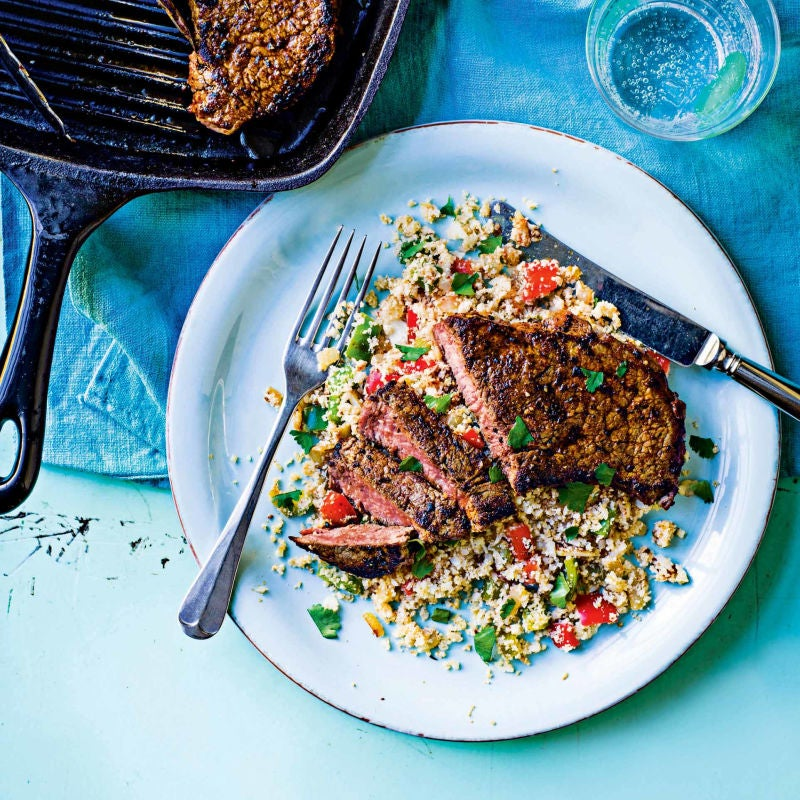 Photo of Cajun-spiced steak with cauliflower 'rice' by WW