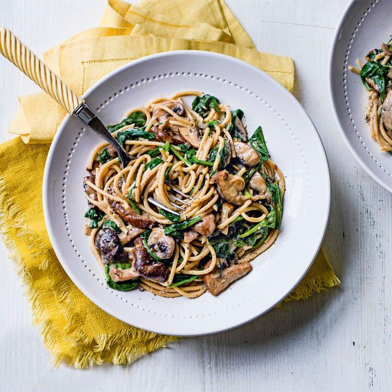 Photo of Mushroom & spinach spaghetti by WW