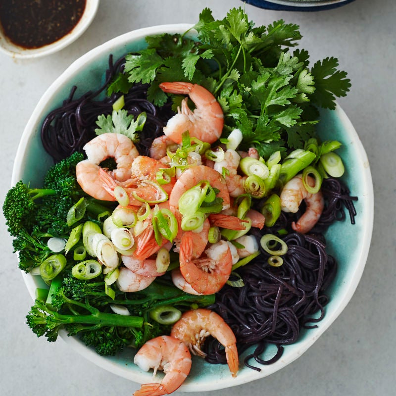 Photo of Prawn, broccoli & rice noodle salad by WW