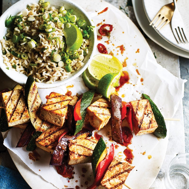 Photo of Tofu kebabs & rice salad by WW