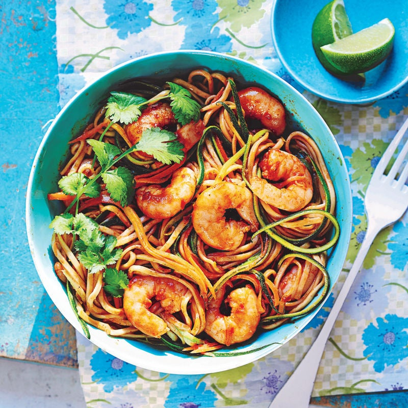 Photo of Harissa prawns with coconut noodles by WW