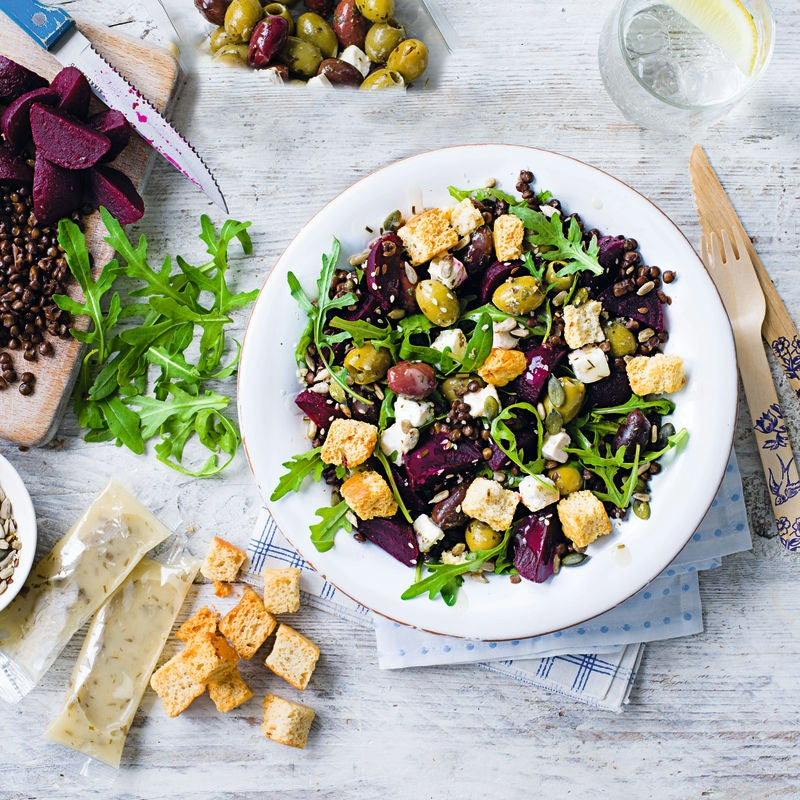 Photo of Lentil, olive & beetroot salad by WW