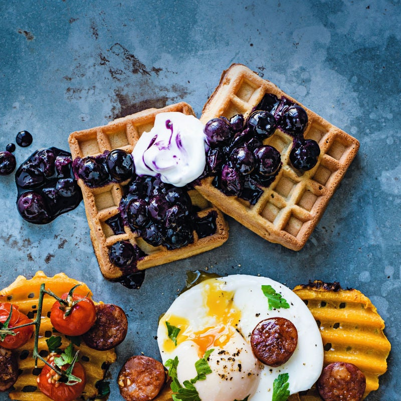 Photo of Waffles with blueberry compote by WW