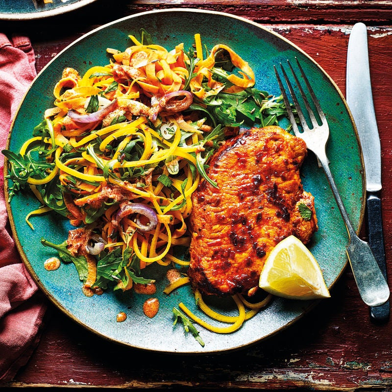 Photo of Harissa pork & cumin-spiced 'noodles' by WW