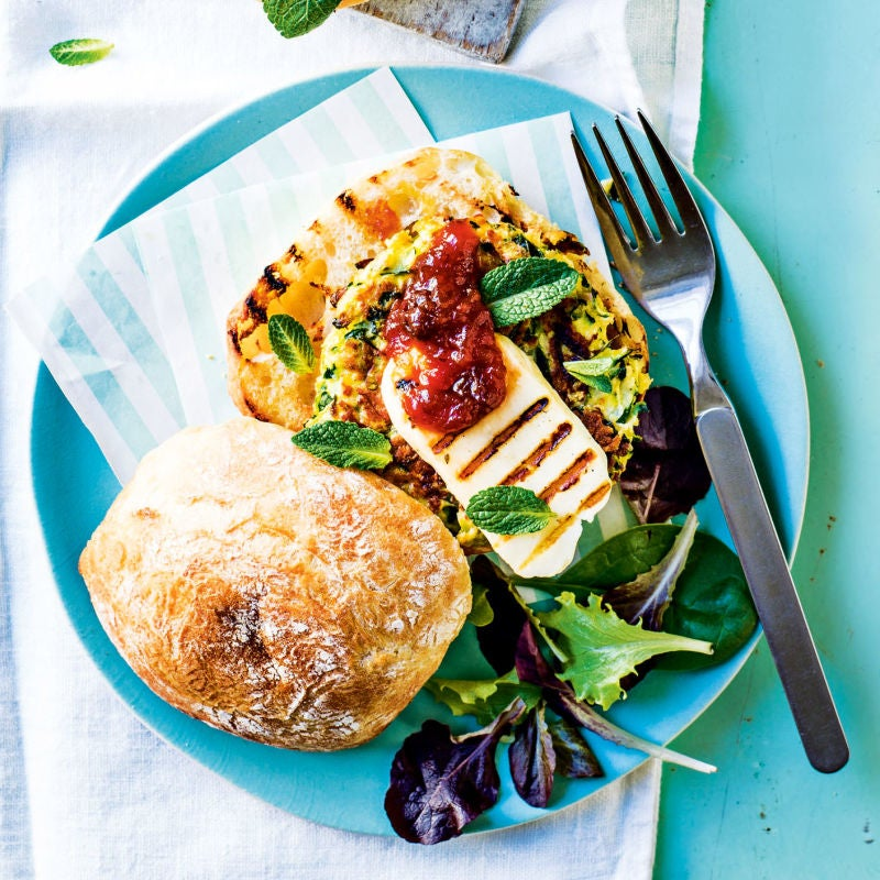 Photo of Courgette & halloumi burger by WW