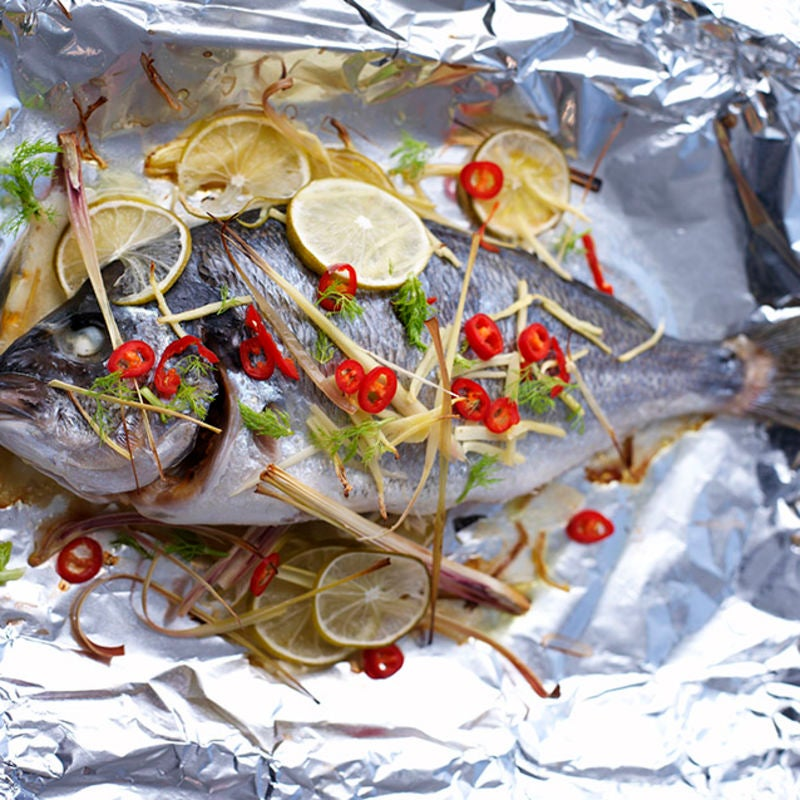 Photo of Bream with lemongrass, ginger stuffing & fennel salad by WW