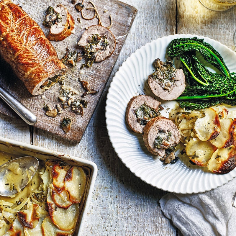 Photo of Wild mushroom & spinach stuffed pork loin by WW