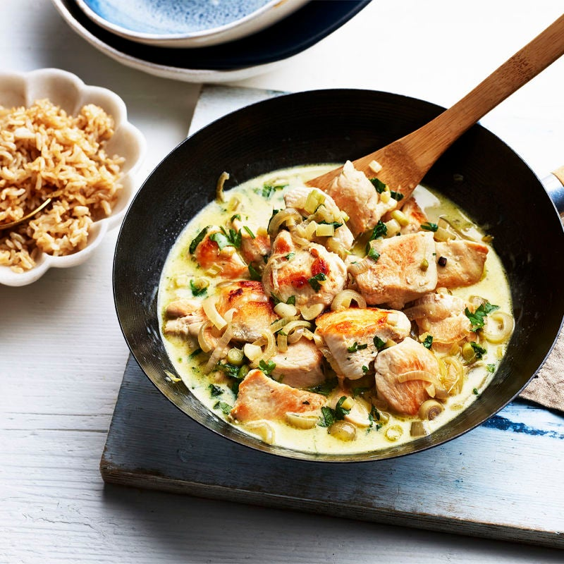 Photo of Thai green chicken curry by WW