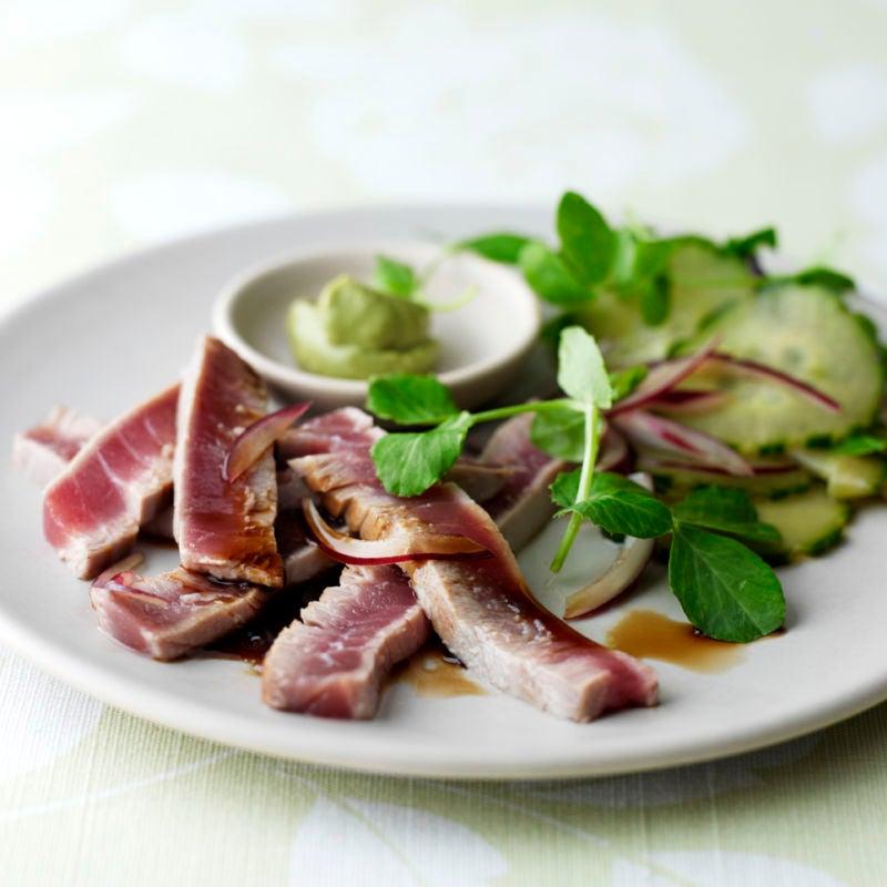 Photo of Seared tuna with cucumber salad & wasabi by WW