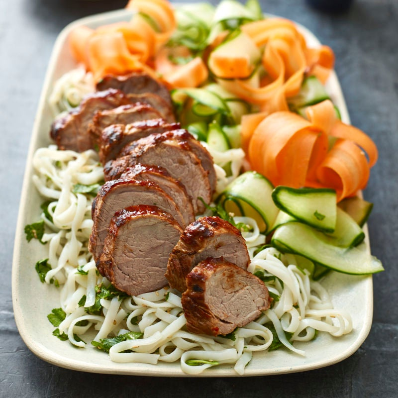 Photo of Roast pork with noodle salad by WW